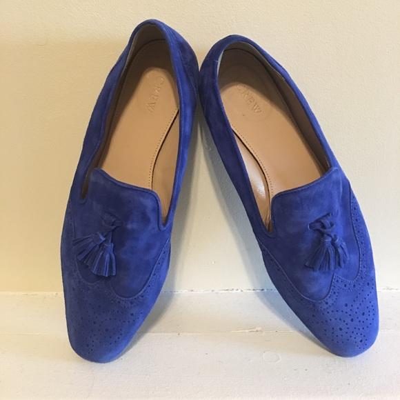 J Crew Royal Blue Tassel Loafers